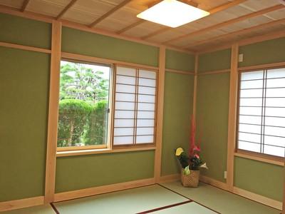 山昭木材さんで建てた家の和室