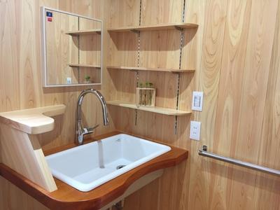 山昭木材で建てた家の洗面台
