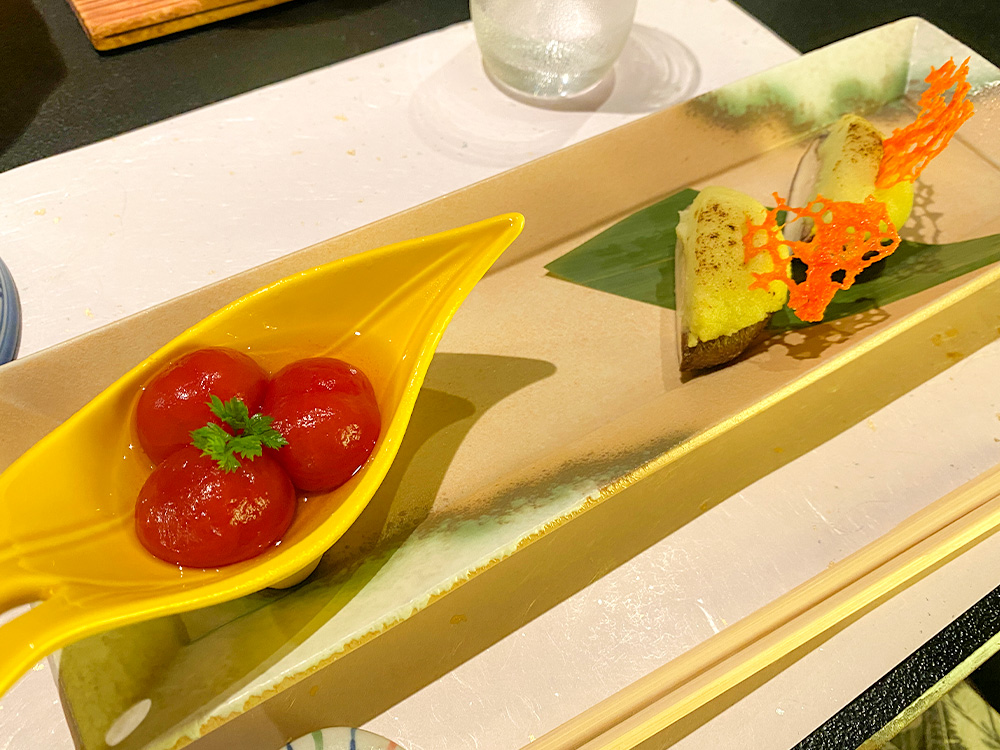 韮山トマトのワイン煮 中伊豆産原木椎茸