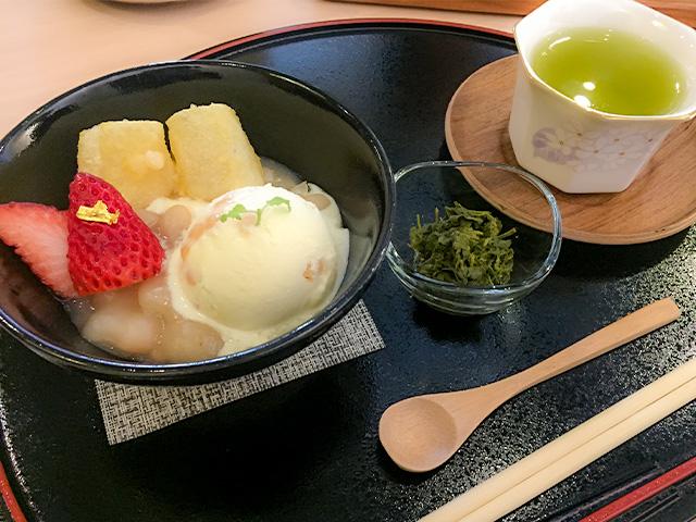 T's green omachi 幸せの白いおしるこ