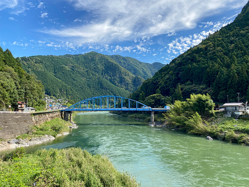 白川町の景色:白川橋からの眺め